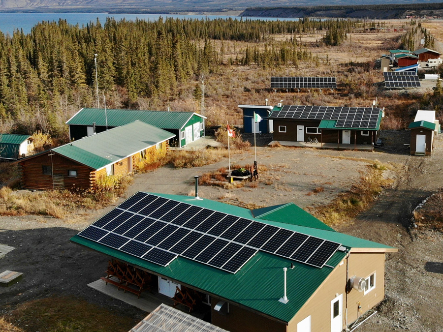 Solar panels at KLRS